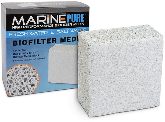marine pure block ceramic biofilter media with box at algaebarn