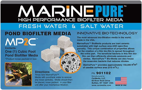 marine pure cubes ceramic biofilter media in box at algaebarn