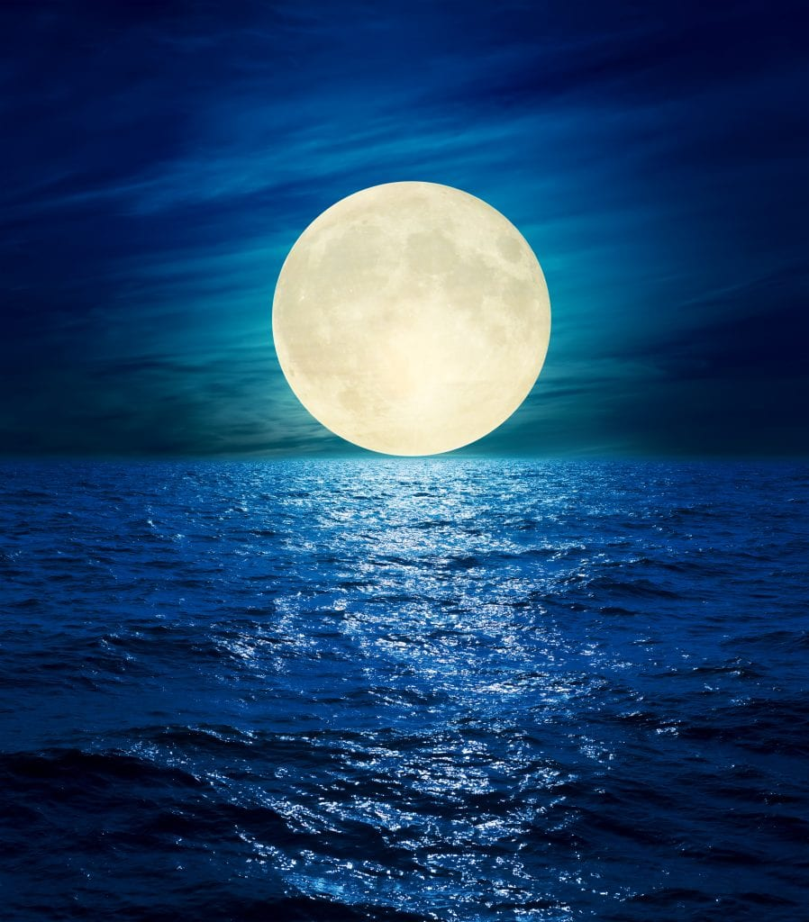 The moon over the Ocean