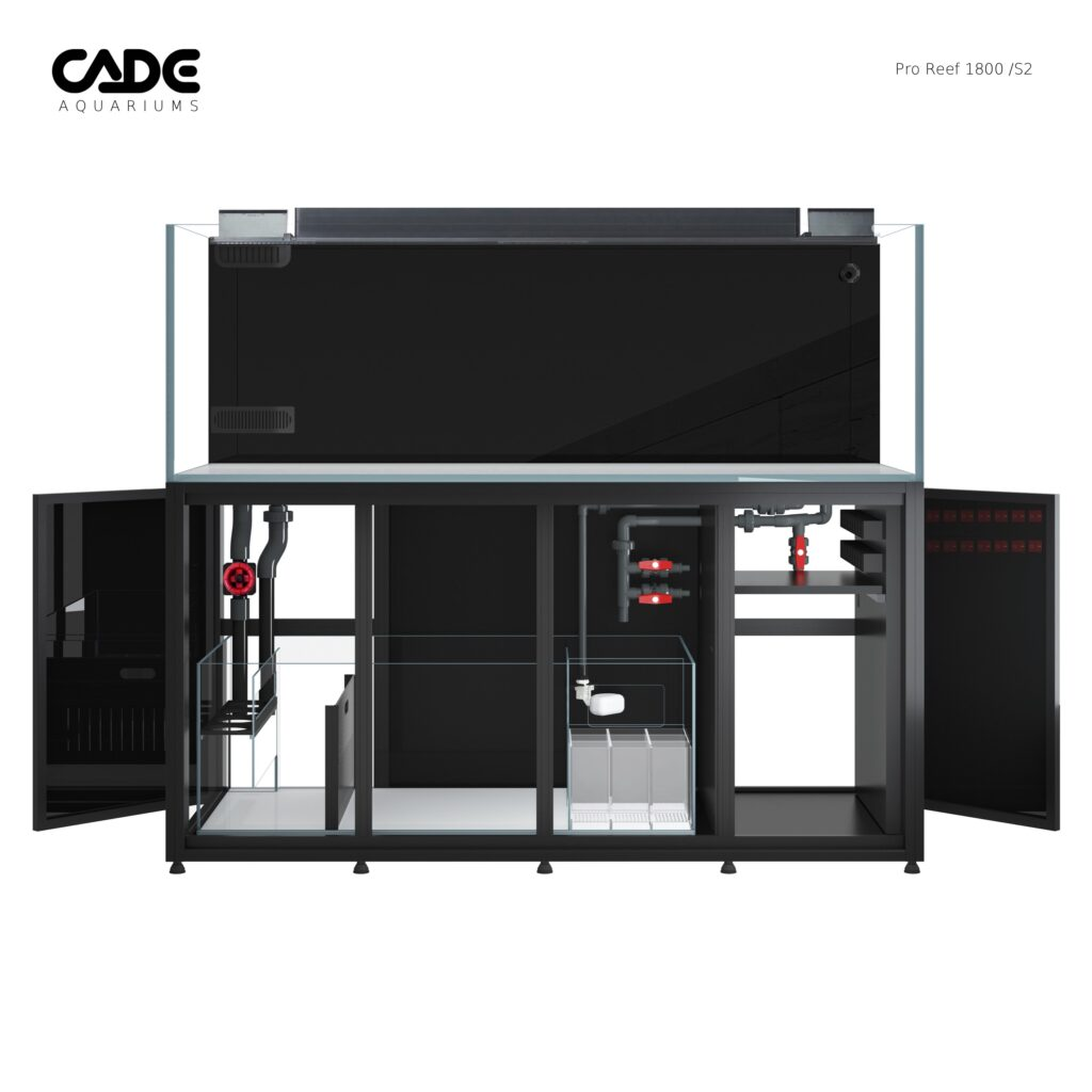 The top of the line CADE 1800 aquarium is nearly 200g of total water volume!